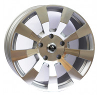 Диски Alexrims AFC-10 (forged) W9.5 R20 PCD5x150 ET40 DIA110.1 polished surface + silver insi