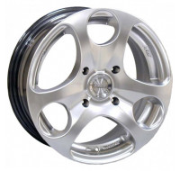 Диски Racing Wheels H-344 W6 R14 PCD4x100 ET35 DIA67.1 silver