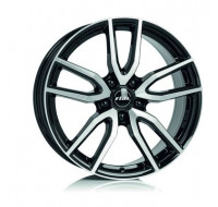 Диски Rial Torino W7.5 R17 PCD5x114.3 ET48 DIA70.1 diamond black front polished