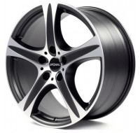 Диски Ronal R55 W9 R19 PCD5x114.3 ET40 DIA82 matt black front diamond cut