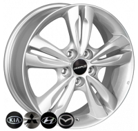 Диски ZF TL0280NW W6.5 R17 PCD5x114.3 ET48 DIA67.1 silver