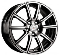 Диски Racing Wheels H-423 W7 R16 PCD4x108 ET40 DIA67.1 BK-F/P